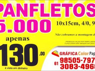 Panfleto 10x15cm - 5.000 por R$ 130,00 - Gráfica Color Paper Valparaiso