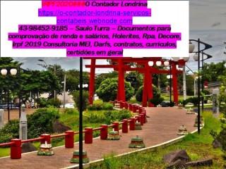 Contabilidade – 043 98452 9185 –Serviços Imposto de Renda Londrina