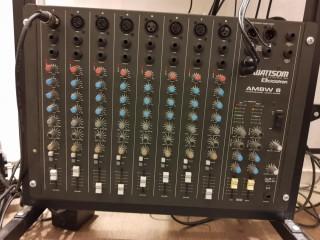 Mesa de som de 8 canais AMBW 8 Ciclotron analógica e sem efeitos