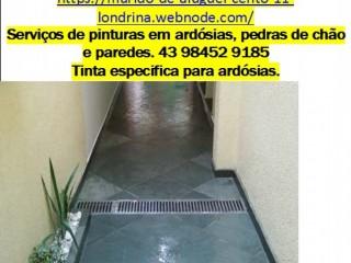 ARDÓSIA LONDRINA#serviços de pinturas/impermeabilização de pedras emardósias