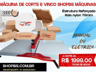 Maquina De Corte E Vinco Manual 100cm - Para caixas de Pizza e Embalagens