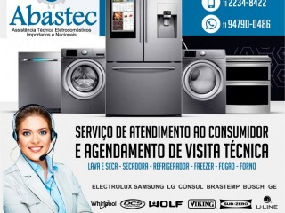 Assistência para refrigerador side by side nacionais e importados
