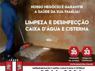 Limpeza de caixas d'água na região do Rio de Janeiro
