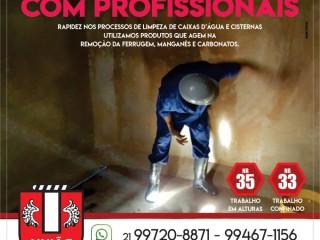 Limpeza de cisterna e caixa da água em Queimados