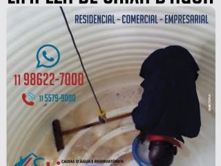 Limpeza de caixa de água em Caieiras