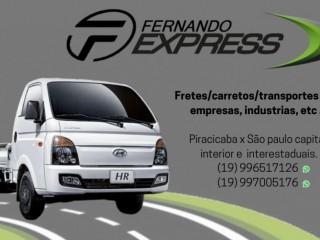 Transporte frete urgente expresso Piracicaba