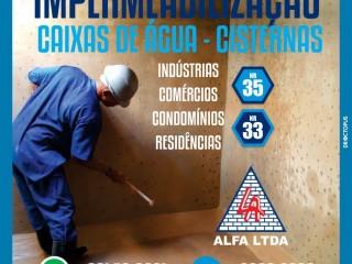 Impermeabilização de caixas de água e cisternas para indústrias