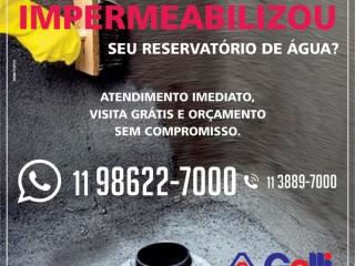Impermeabilização de caixas de água
