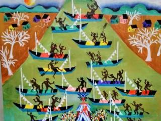 Aécio tema procisao dos Navegantes rio grande do sul Medida 60x60