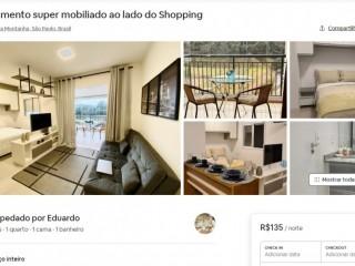 Apartamento super mobiliado ao lado do Shopping