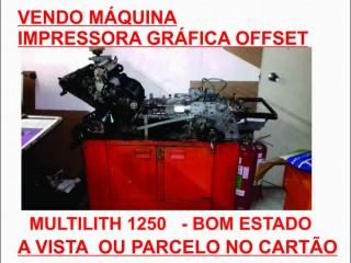 Impressora Grafica Offset Multilith 1250 w