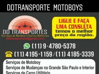 Serviços de motoboy e carros utilitários em litoral e interior