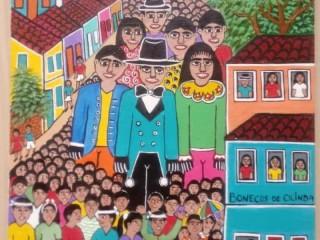 Rosângela Borges tema bonecões de Olinda medida 40x30